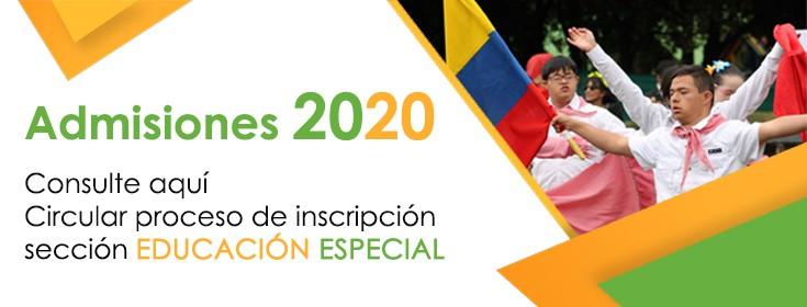 Admisiones Educaci�n Especial 2020