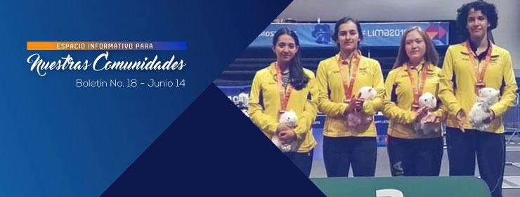 Bolet�n No. 18 - Medalla de bronce en el suramericano de esgrima